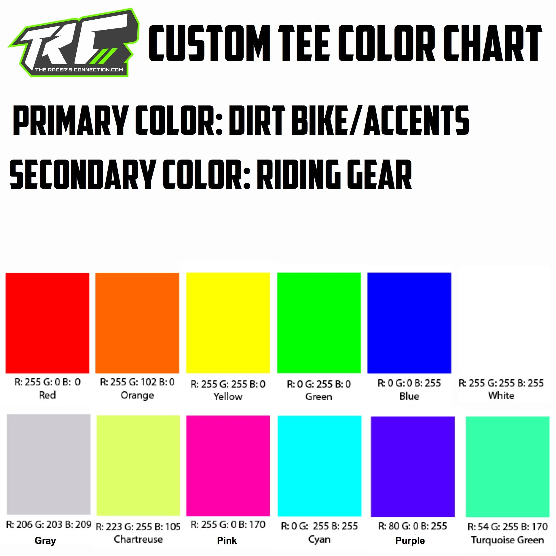 TRC Rider Colors Color Chart